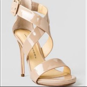 Chinese Laundry nude strappy heels sandal size 8.5
